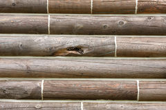Log cabin. Side of log cabin for background or country texture Royalty Free Stock Images