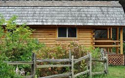Log Cabin. Sitting in the woods Stock Images