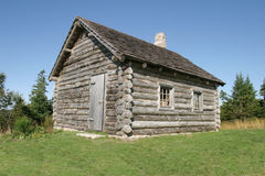 Log Cabin. An Old log cabin out in the country Royalty Free Stock Photography