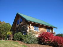 Log Cabin. In the woods or a vacation home or hunting lodge Royalty Free Stock Photos