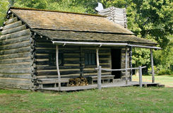 Log Cabin. In new salem illinois state historic site Royalty Free Stock Images