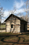 Log cabin. An old log cabin on a farm royalty free stock photos