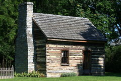 Log Cabin. Located at Abram's Delight in Winchester, Virginia, USA Royalty Free Stock Photography