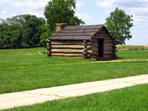 Log Cabin. This is a log cabin at Valley Forge, Pennsylvania Stock Photo