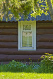 Log cabin Stock Photo