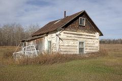 Log cabin, Alberta, Canada Stock Photography