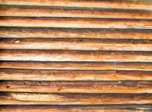 Log cabin background Stock Image