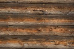Log cabin background Stock Images