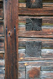 Log Cabin Background. A closeup of the logs in a log cabin stock photography