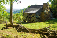 Log Cabin on the Blue Ridge Parkway Royalty Free Stock Photography