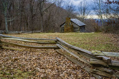 Log Cabin on the Blue Ridge Parkway Royalty Free Stock Photos
