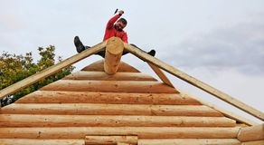 Log cabin building Stock Images