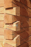 Log Cabin Construction Joints Royalty Free Stock Photos