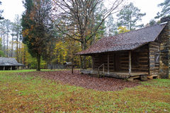 Log Cabin in the Country. Rustic log cabin in the countryside stock image