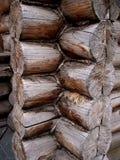 Log cabin, detail. Corner of log cabin, detail stock image
