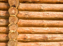 Log cabin details. Architectural details of cabin or gut made from logs Royalty Free Stock Photography