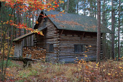 Log Cabin in the Eastern townships, Quebec Stock Photos