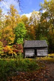 Log Cabin in the Fall Royalty Free Stock Photo