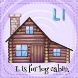 Log cabin stock illustration