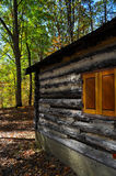 Log cabin in forest Royalty Free Stock Photos