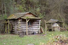 Log Cabin on the forest Woodland Royalty Free Stock Photography