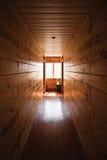 Log Cabin Hallway Stock Image