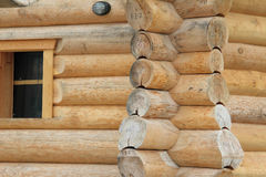 Log cabin home Stock Image