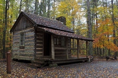 Log Cabin Home. On the Living History Farm in Kings Mountain State Park royalty free stock photos
