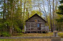 Log cabin in Hope Alaska Royalty Free Stock Photography