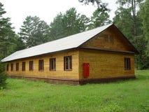 Log cabin hotel stock photos