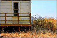 Log cabin house California for your vacation spot Stock Image