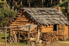 Log Cabin, Hut, Shack, Rural Area Royalty Free Stock Image