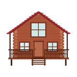 Log cabin icon. Over white background. wooden house. vector illustration vector illustration
