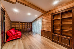 Log cabin library Stock Photos