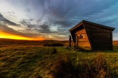 Log cabin on the moors