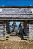 Through the Log Cabin on Mt LeConte Stock Photography