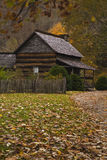 Log Cabin, Oconaluftee Pioneer Homestead. Garden, Barn, Oconaluftee Pioneer Homestead, Great Smoky Mountains National Park, NC royalty free stock image