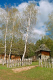 Log cabin. Old chalets placed on Mount Zlatibor done in the traditional style, Exceptionally well-preserved and still in use. The huts were built on a rock with stock photos