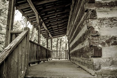 Log Cabin Porch Royalty Free Stock Photography