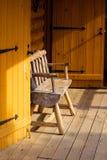 Log cabin portico Stock Photos