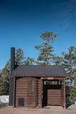 Log Cabin Privy. For tourists to use during their visit to a National Park Royalty Free Stock Photos