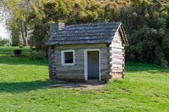 Log cabin. Replica of log cabin in Waveland State Historic Site. Lexington, Kentucky, USA Royalty Free Stock Photo