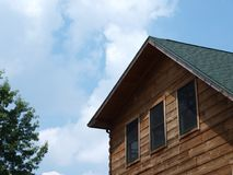 Log Cabin Roofline Stock Images