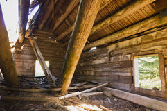 Log cabin ruins Royalty Free Stock Photography