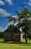 Log cabin in Serbin Texas stock photography