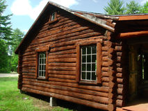 Log Cabin Side Stock Photo
