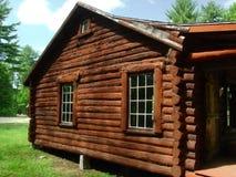 Log Cabin Side Stock Photo