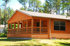 Log Cabin side view Royalty Free Stock Image
