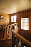Log Cabin Stairwell Stock Image