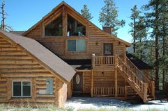 Log Cabin Style Home Stock Image